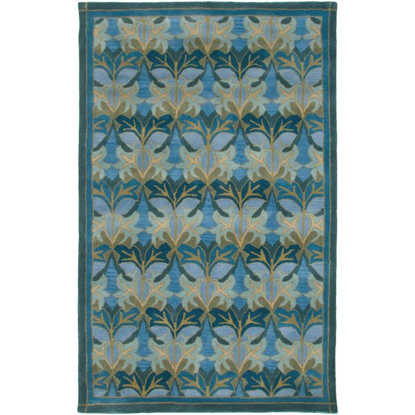 Galway Hand-Tufted Blue Area Rug by Meridian Rugmakers