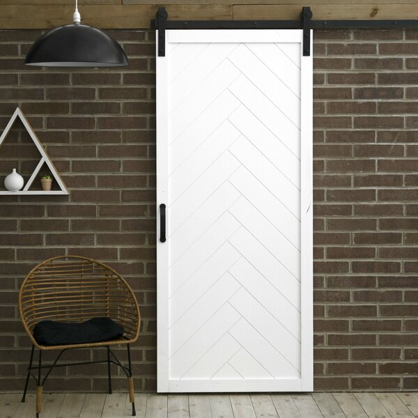 Herringbone Solid Panel Wood Slab Interior Barn Do