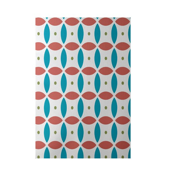 Beach Ball Geometric Print Seed Indoor/Outdoor Area Rug by e by design