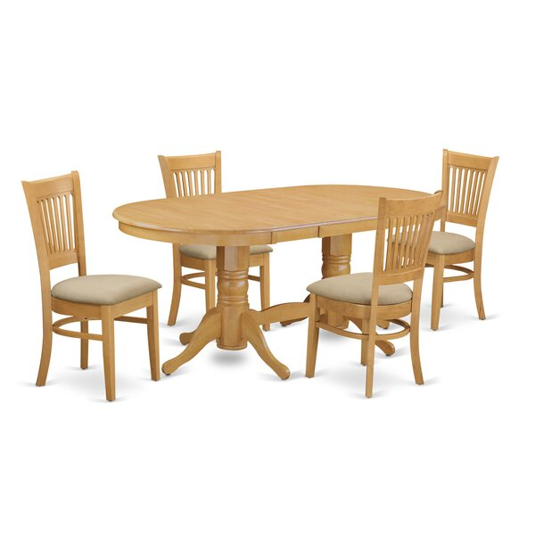 Rockdale 5 Piece Solid Wood Dining Set by Darby Home Co