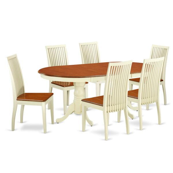 Pilcher 7 Piece Solid Wood Dining Set by August Grove