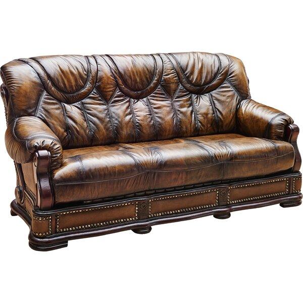 Home & Outdoor Renton Leather Sofa Bed Sleeper