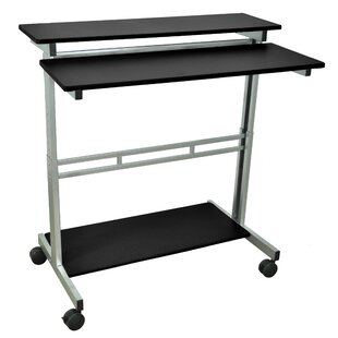 Stand Up Adjustable Laptop Cart by Offex