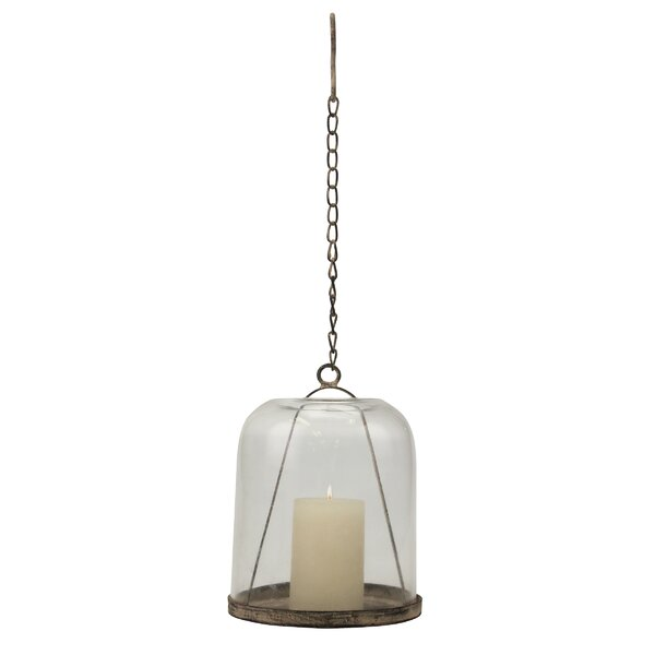 Weathered Metal Cloche with Chain Hook by Williston Forge