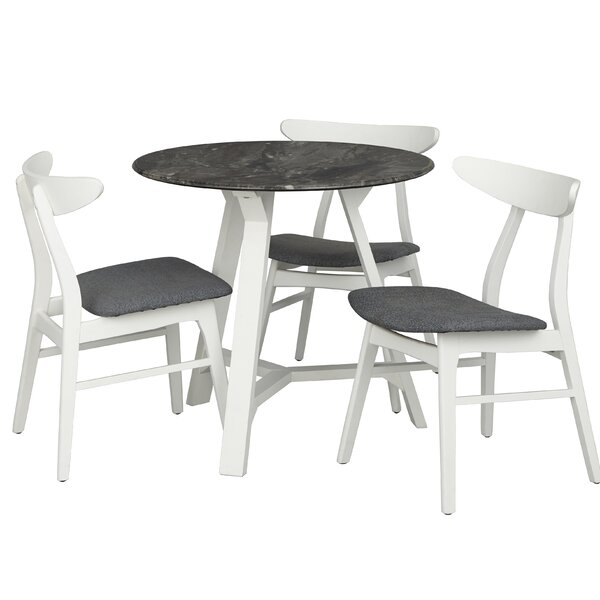 Toussaint Round Top 4 Piece Dining Set by Brayden Studio