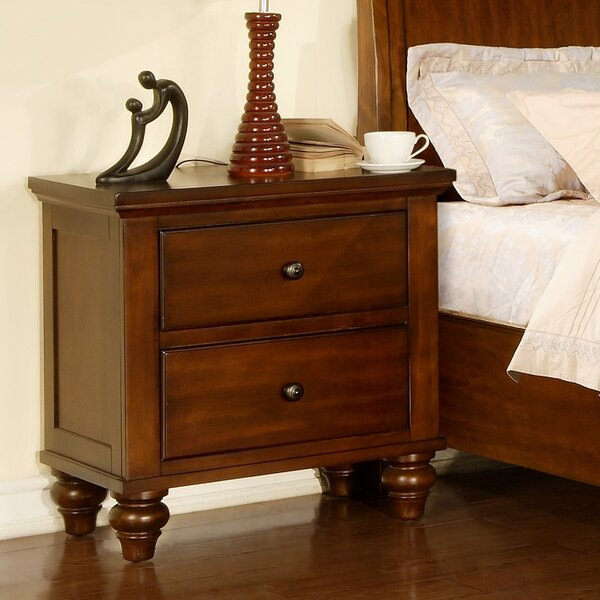 Verrett 2 Drawer Nightstand by Darby Home Co