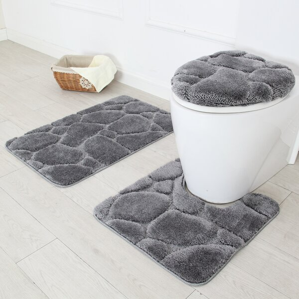 River Rock 3 Piece Bath Rug Set by Daniels Bath