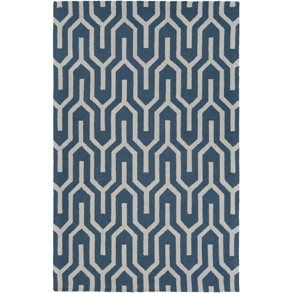 Zacarias Hand-Tufted Blue Area Rug by George Oliver