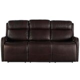 Dutson Leather Reclining 77 Square Arm Sofa by Red Barrel Studio®