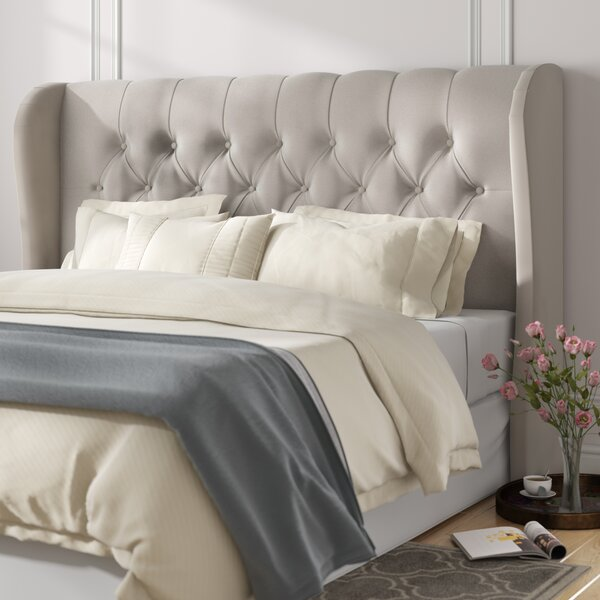 Alvardo Upholstered Wingback Headboard by Willa Arlo Interiors