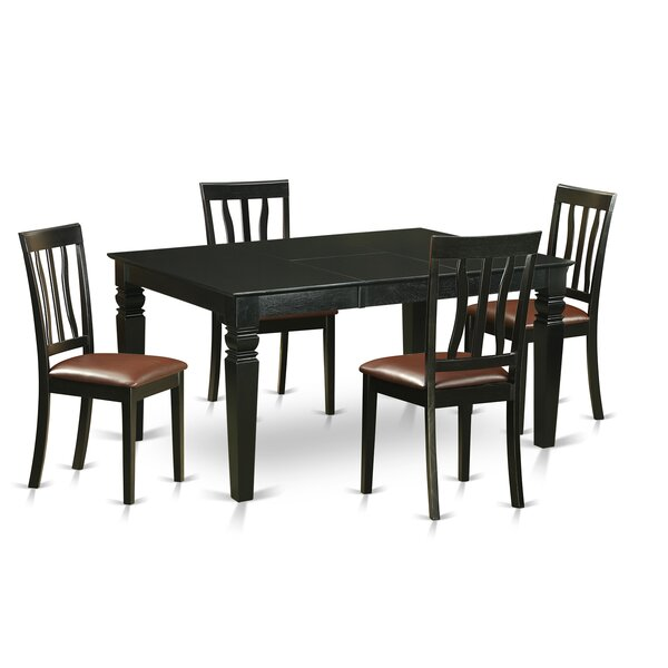 Weston 5 Piece Dining Set by Wooden Importers