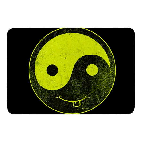 Ying Yang by Frederic Levy-Hadida Bath Mat by East Urban Home