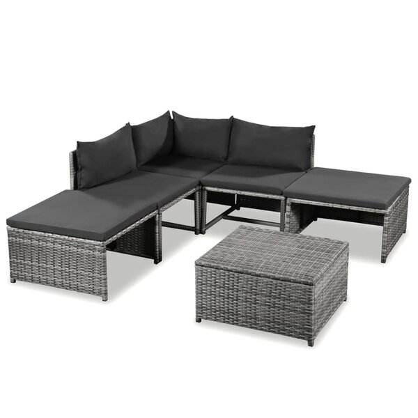 Staetler 6 Piece Sectional Seating Group with Cushions by Ebern Designs Ebern Designs