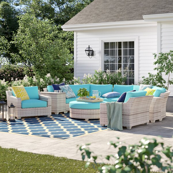 Falmouth 8 Piece Rattan Sectional Seating Group With Cushions By Sol 72 Outdoor by Sol 72 Outdoor Fresh