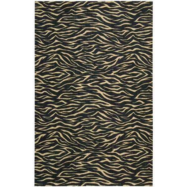 Dunnstown Hand-Woven Midnight Area Rug by Bloomsbury Market