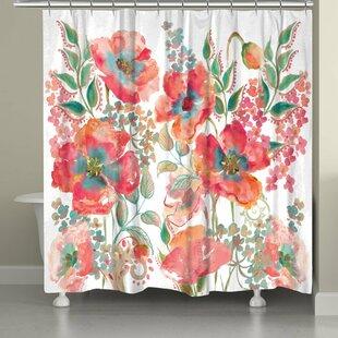 Savings Bohemian Poppies Shower Curtain ByLaural Home