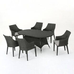 Backlund Outdoor Wicker Round 5 Piece Dining Set with Cushions By Ivy Bronx