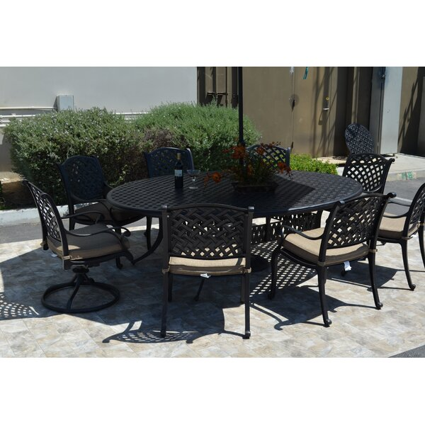 Middleburgh 9 Piece Dining Set with Cushions by Darby Home Co
