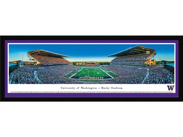 NCAA Washington, University of - Football by Christopher Gjevre Framed Photographic Print by Blakeway Worldwide Panoramas, Inc