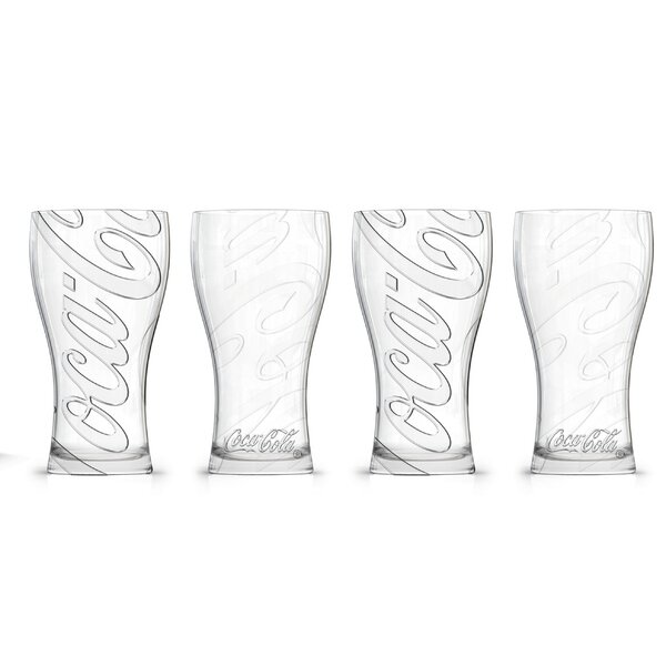 Coca-Cola Affinity Fountain 16 oz. Glass Pint Glasses (Set of 4) by PB
