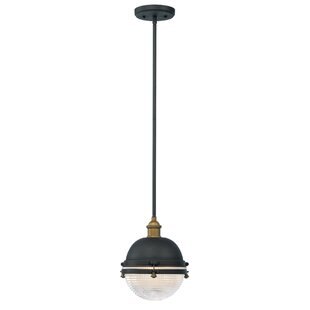 Best Reviews Bertha 1-Light Pendant By Gracie Oaks