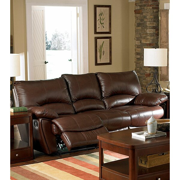 #1 Laurencho Leather Reclining Sofa By Red Barrel Studio Coupon