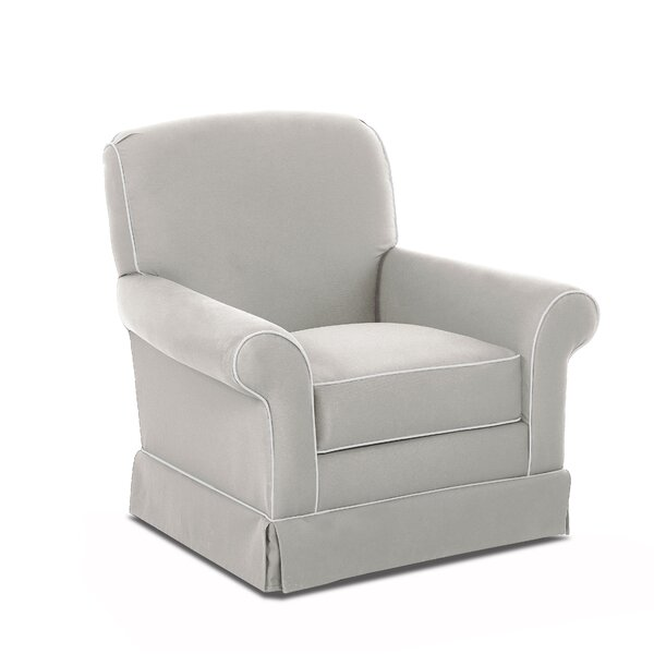 Triton Swivel Glider with Contrasting Welt by Wayfair Custom Upholstery™