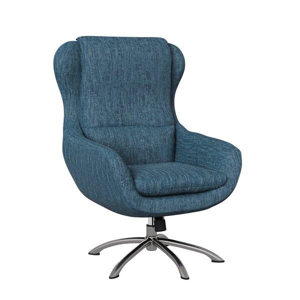 Mount Ida Swivel 20-inch Armchair by Ivy Bronx Ivy Bronx