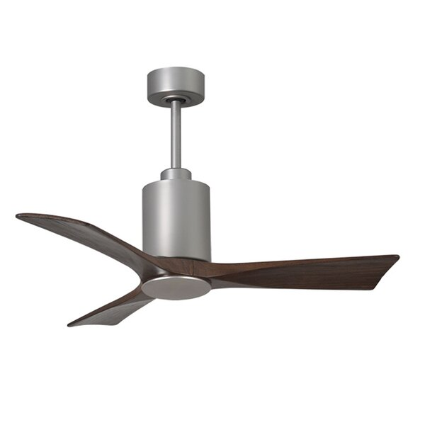42 Patricia 3 Blade Ceiling Fan with Wall Remote by Matthews Fan Company