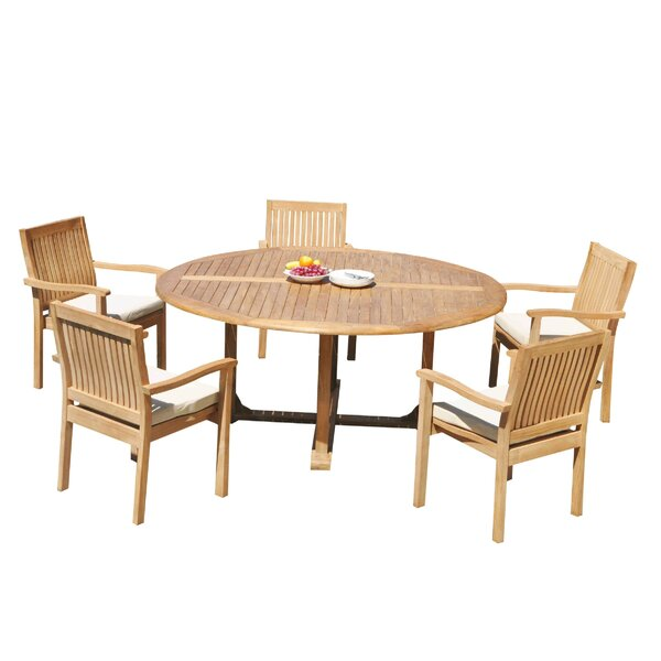 Mashburn 6 Piece Teak Dining Set by Rosecliff Heights