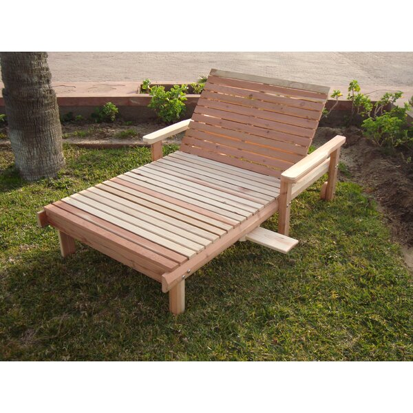 Henry Rustic Wheel Beach Wide Chaise Lounge by Rosecliff Heights