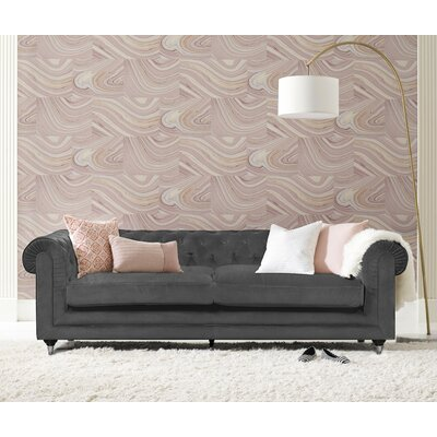 Elle Decor Arm Sofa Velvet Gunmetal Sofas