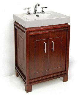Bartone 24 Vitreous Ensemble Bathroom Vanity Set by D'Vontz