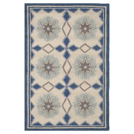 Hooked Blue/Ivory Area Rug by Dash and Albert Rugs