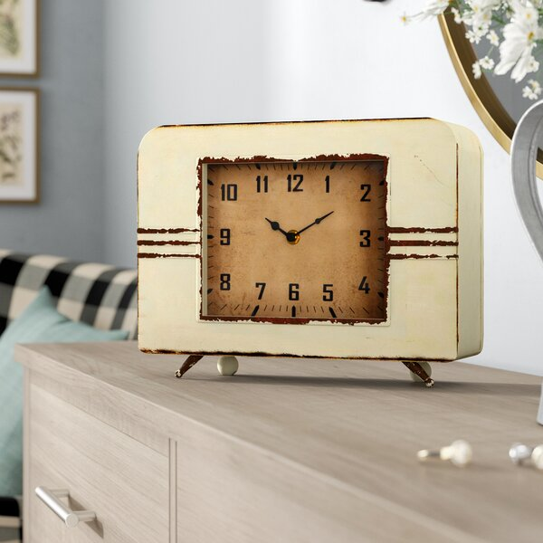Metal Mantel Clock by Laurel Foundry Modern Farmhouse