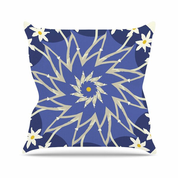 Laura Nicholson Sawtooth Flower Nature Outdoor Throw Pillow by East Urban Home