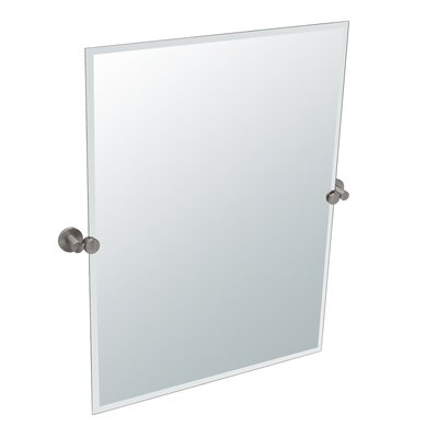 Modern Nickel Rectangle Wall Mirrors Allmodern