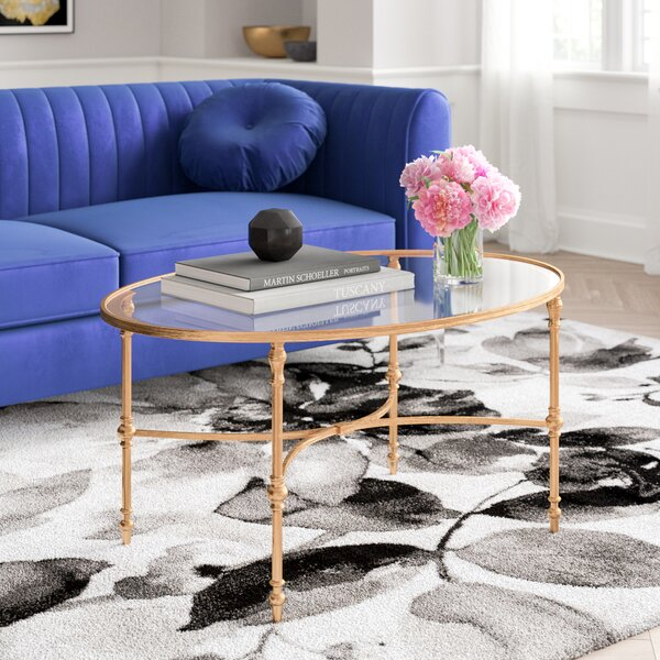 Burcott Coffee Table with Tray Top by Willa Arlo Interiors Willa Arlo Interiors
