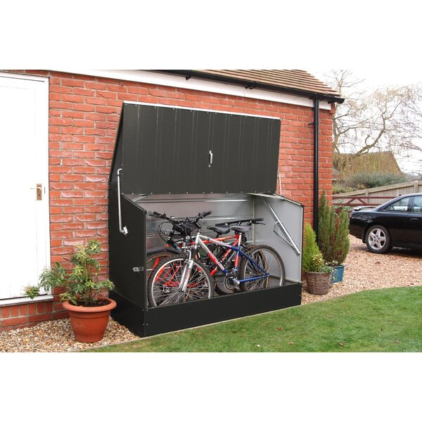 6 ft. 5 in. W x 2 ft. 11 in. D Metal Horizontal Bike Shed by Rowlinson
