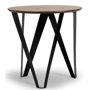 Aimi Round End Table by Glamour Home Decor