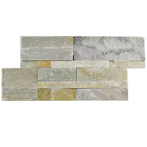 Piedro 7 x 13.5 Natural Stone Splitface Tile in Gray/Beige by EliteTile