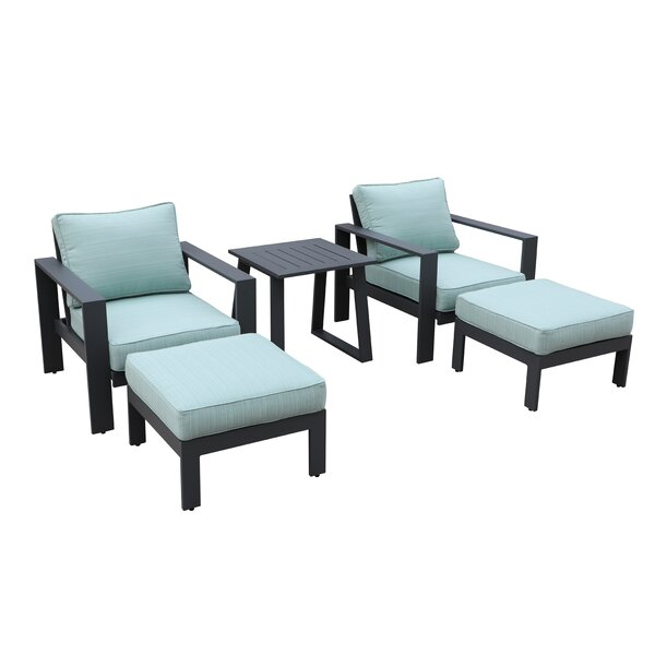 Lacourse Outdoor 5 Piece Multiple Chairs Seating Group with Cushions by Brayden Studio