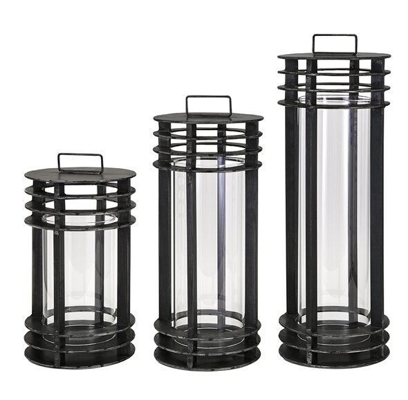 3 Piece Metal Lantern Set by Loon Peak