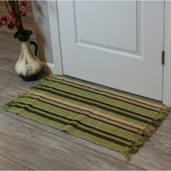 Baldock Silk Ribbed Hand-Woven Light Green Area Rug by Winston Porter