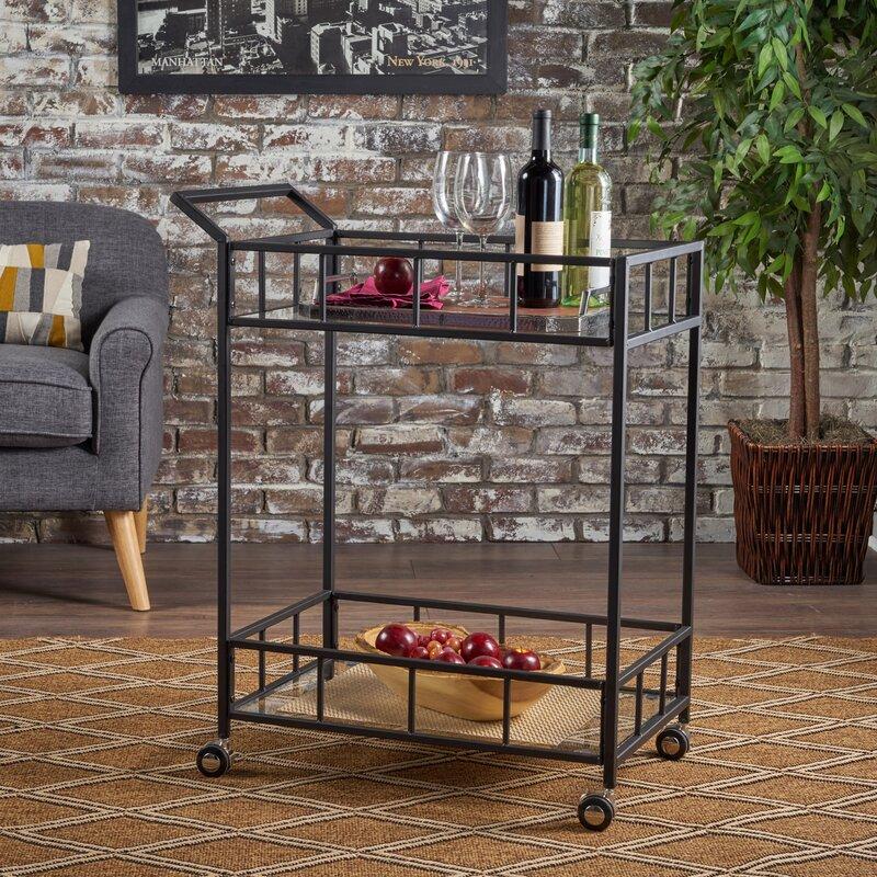 Beeler Indoor Iron Bar Cart