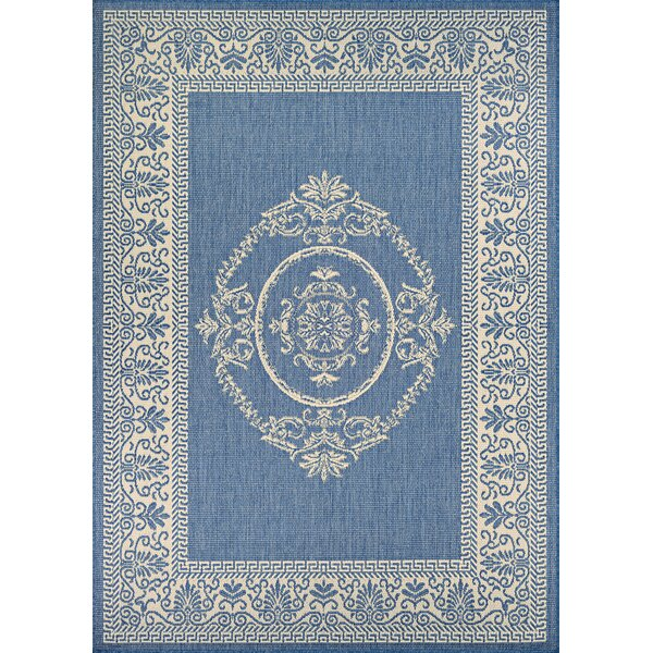 Miley Blue Indoor/Outdoor Area Rug by August Grove