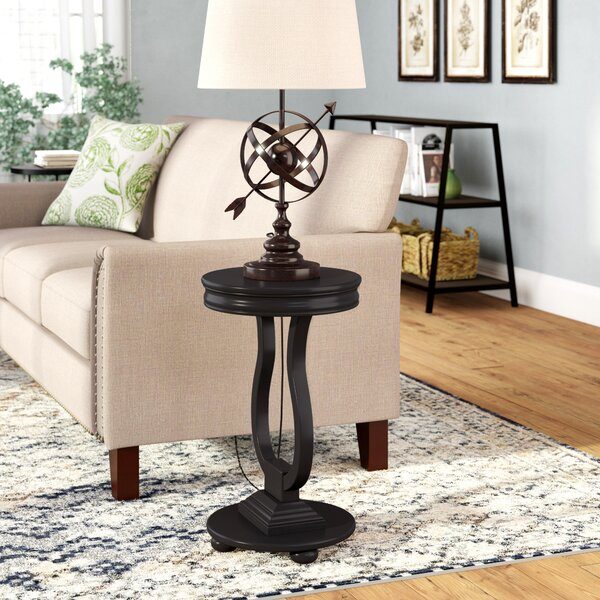 Marcelino Tray Top Pedestal End Table By Three Posts