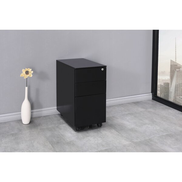 Agatha-Alice 3-Drawer Mobile Vertical Filing Cabinet