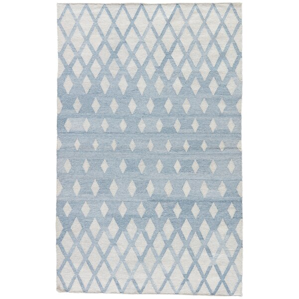 Heinz Blue/Cream Indoor/Outdoor Area Rug by Wrought Studio