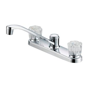 Oakbrook Collection Double Handle Deck Mounted Standard Kitchen Faucet